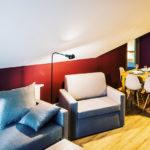 Eskapada - apartament 4 - widok na pokój i aneks kuchenny
